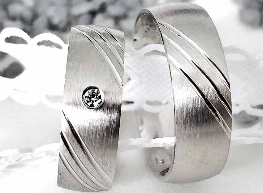Partnerring Liebe | Silber und Zirkonia