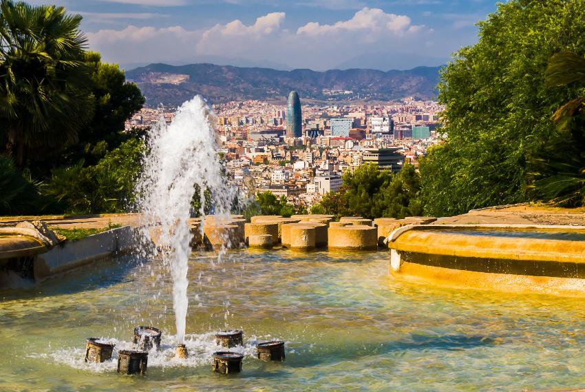 Malerischer Blick über Barcelona