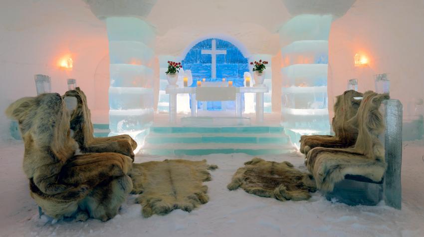 Eiskirche - spektakuläres Heiraten im Ausland