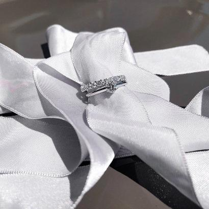 Memoire Ring in 950 Platin Verlobungsring 0,5 ct verlobungsring-weissgold-oder-platin