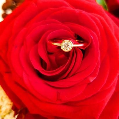 Solitaire Ring in 585 Gelbgold und 0,25 Diamant