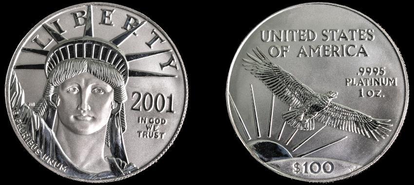 2 amerikanische Platinmünzen