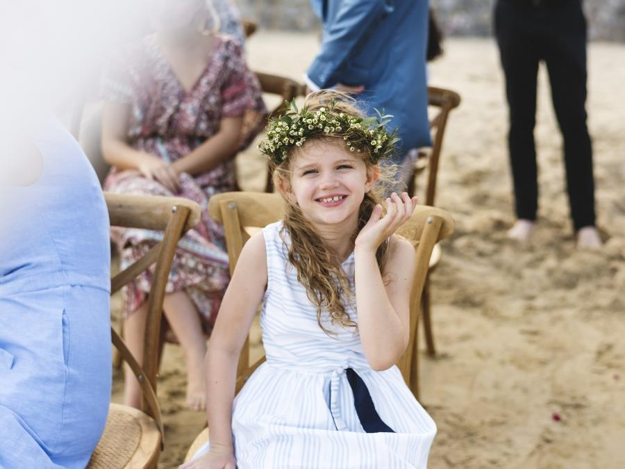 Sandzeremonie mit Kind