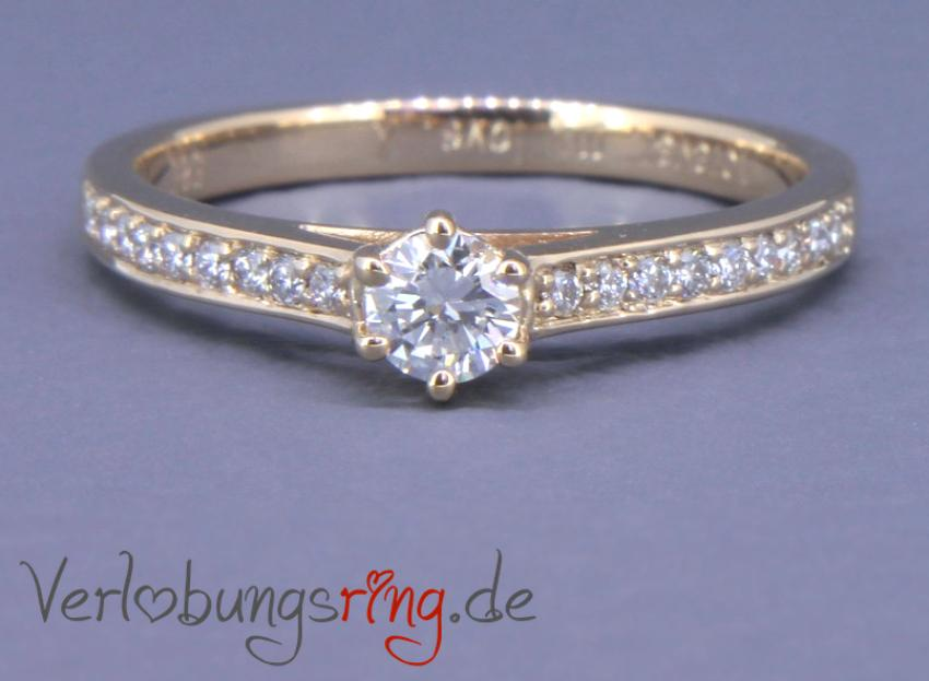 Wunderschöner Verlobungsring in Roségold mit Diamant