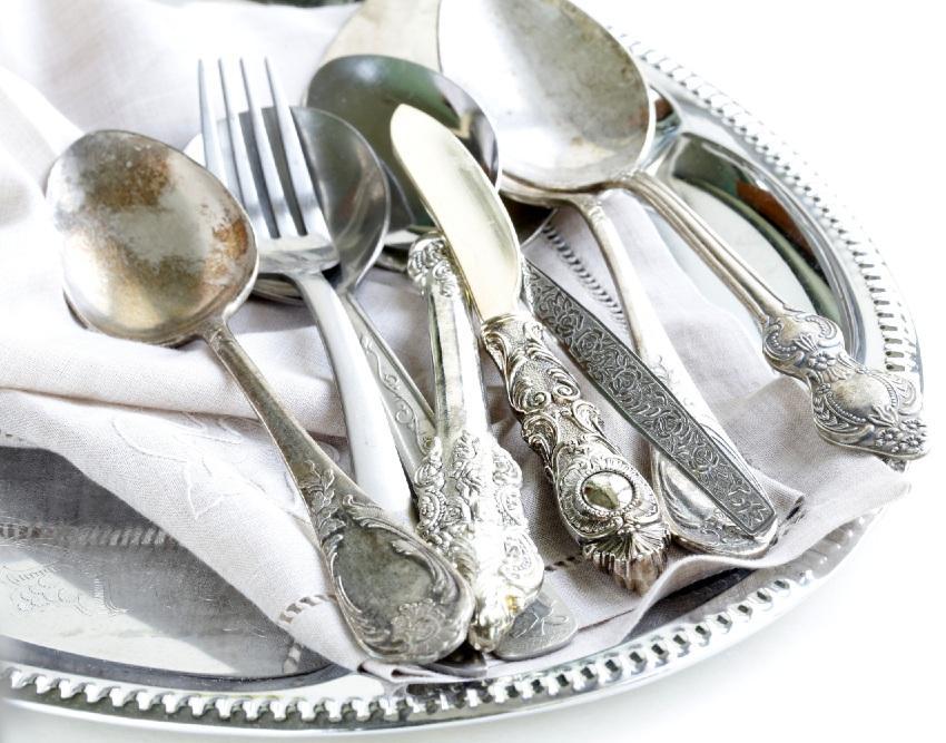 angelaufenes Silberbesteck
