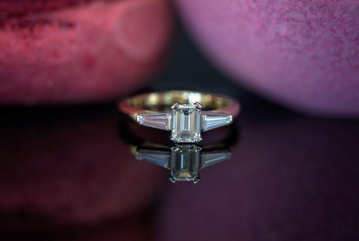 Baguetteschliff Verlobungsring
