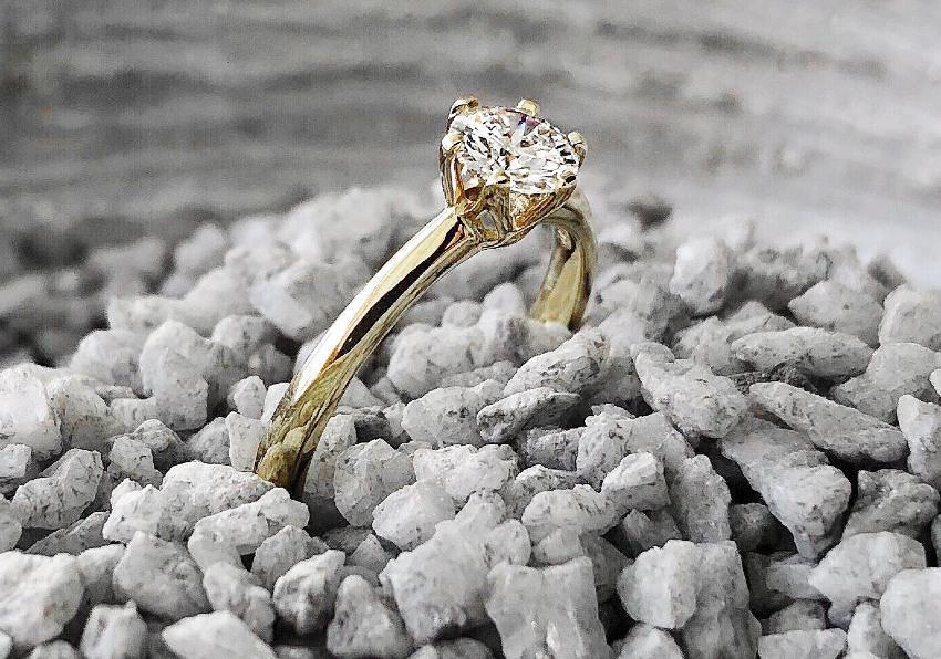 Verlobungsring in Gelbgold