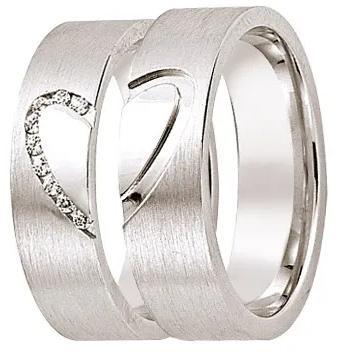 Let me Love you Freundschaftsringe aus 925 Silber mit Zirkonia (0,09 ct.)