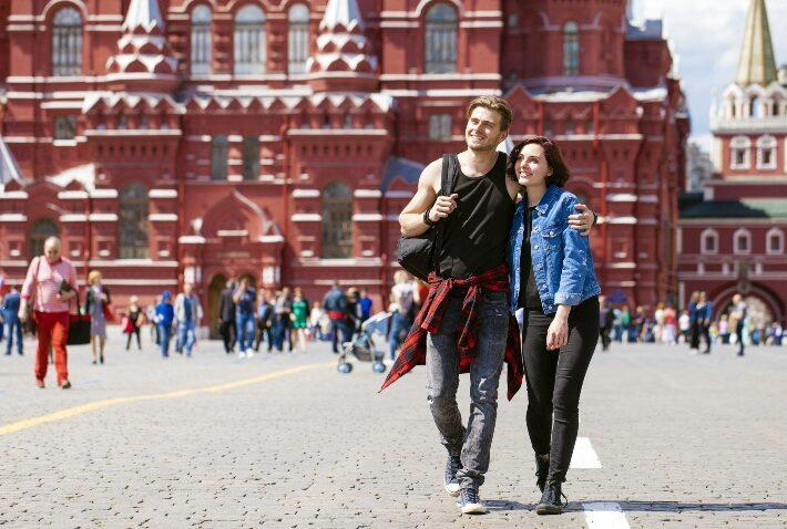 Paar in Moskau