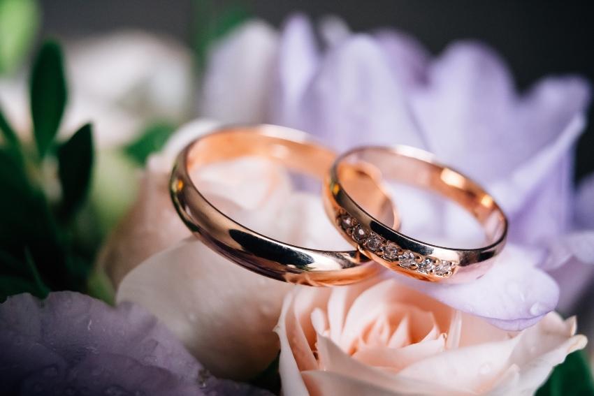 Roségoldenes Ringpaar - Verlobungsring Sets