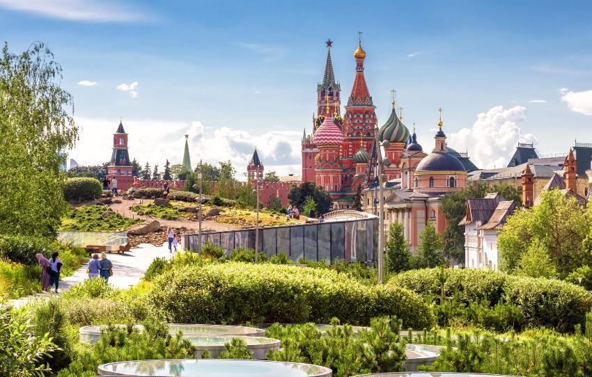 Sarjadje Park mit Blick auf den Kreml - Verlobung in Moskau