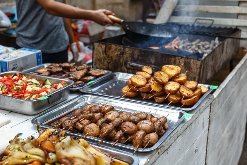 Barbecue Hochzeitsbuffet