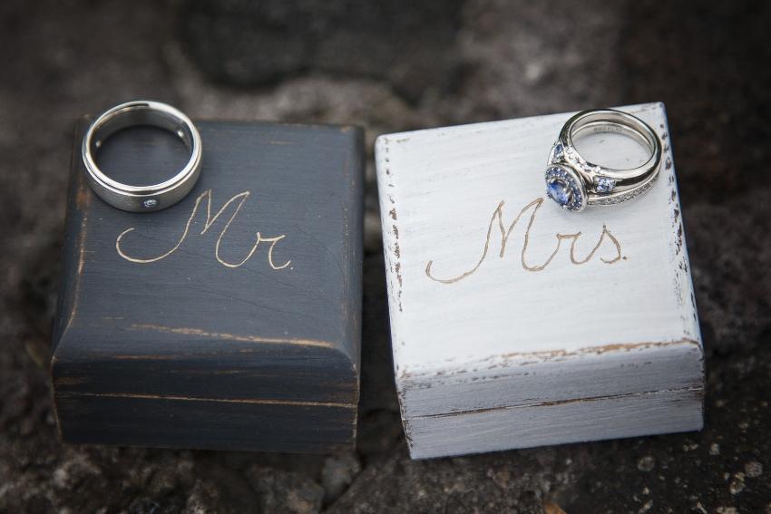 Mr. und Mrs. Eheringe für Männer