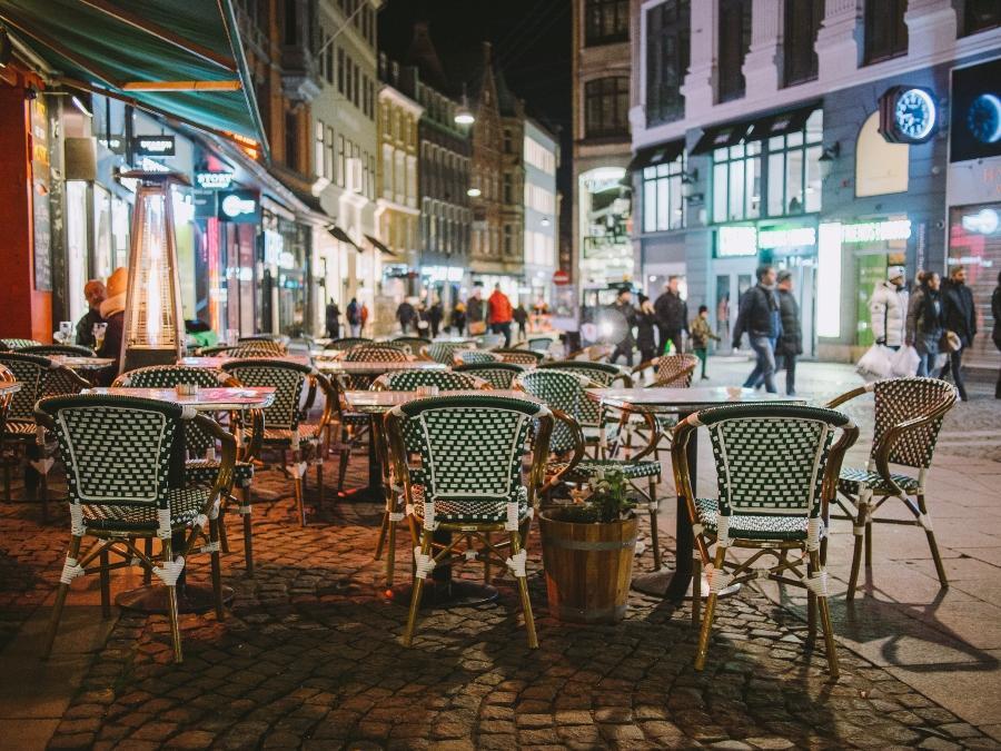 Restaurant in den Strassen von Kopenhagen