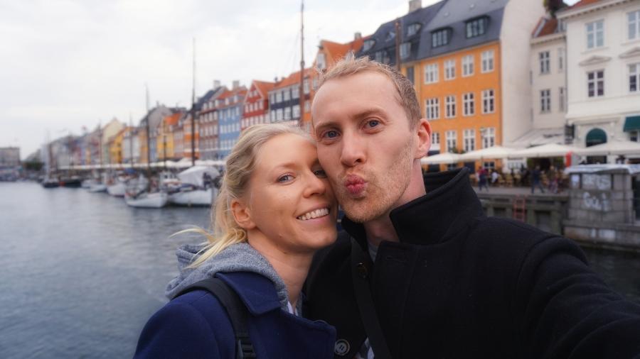 verliebtes Paar in Kopenhagen