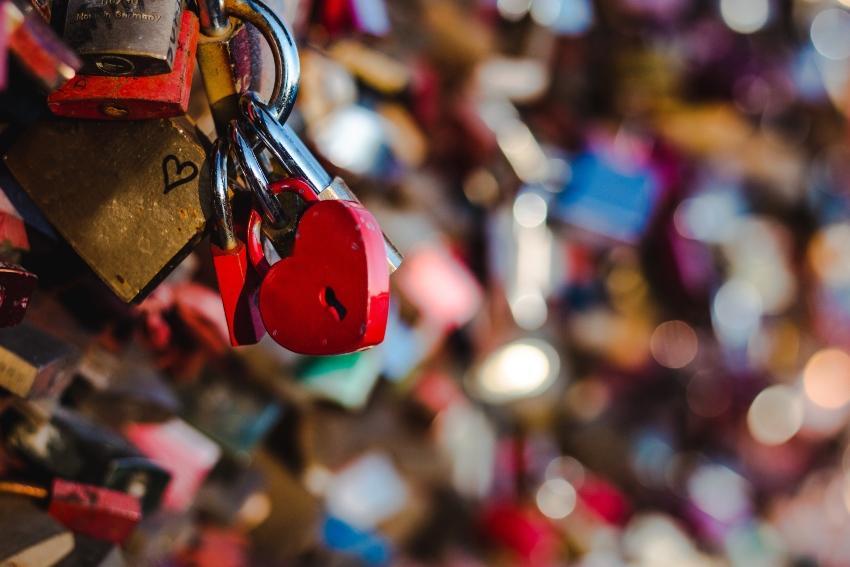 Liebesschlösser in Köln - Verlobung in Deutschland