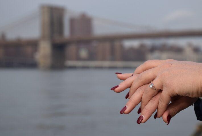 Heiratsantrag in New York - Verlobungsring