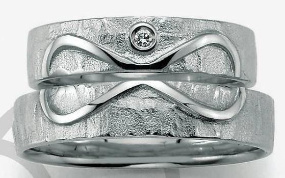 Heartchain Partnerringe aus 925 Silber