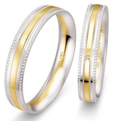 Hochzeitsringe mit Perlierung - Millgriff-Ringe