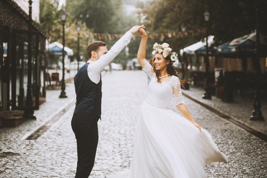 Brautpaar-Styling Urbane Hochzeit