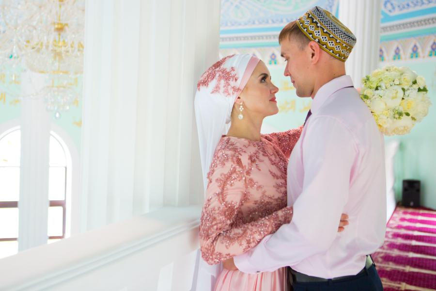 Muslimisches Ehepaar - auch in diesem Kulturkreis gibt es die Morgengabe