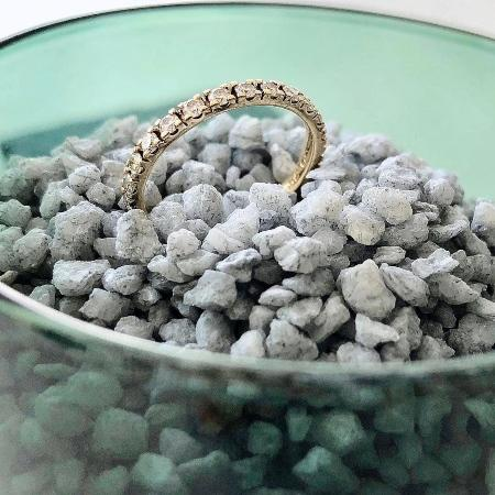 Memoire Ring aus 585 Gelbgold mit Diamant (0,64 ct.) - Handgefertigte Ringe