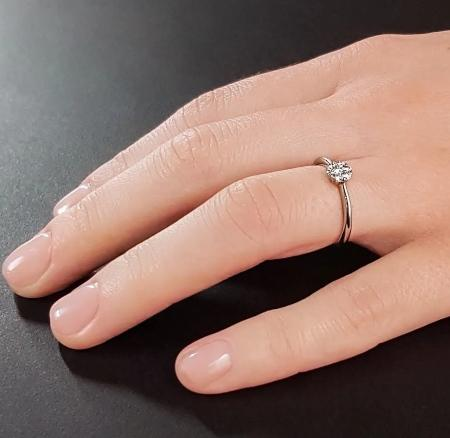 7Diamonds Brillantring aus 925 Silber mit Diamant (0,04 ct. + 0,12 ct.)
