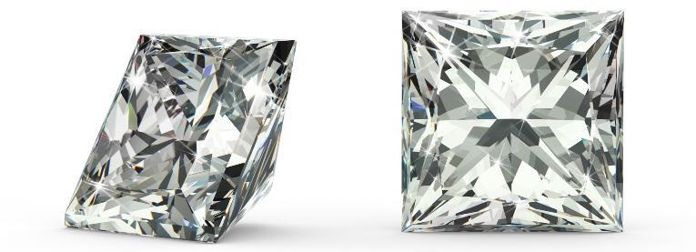 Diamant im Princess Cut