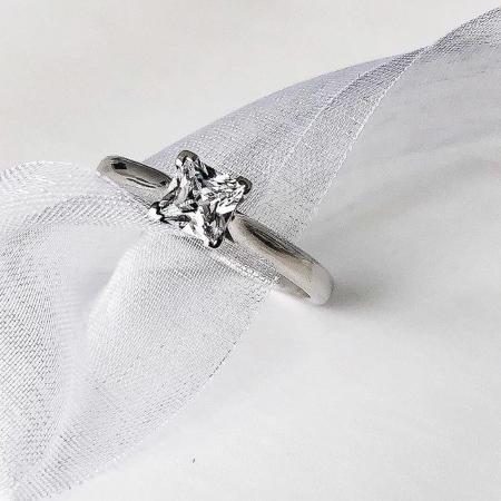 Be my Princess 0,4 ct. Solitärring aus 585 Weißgold mit Diamant - Handgefertigte Ringe