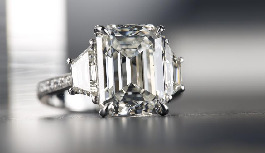 Diamant im Emerald Cut