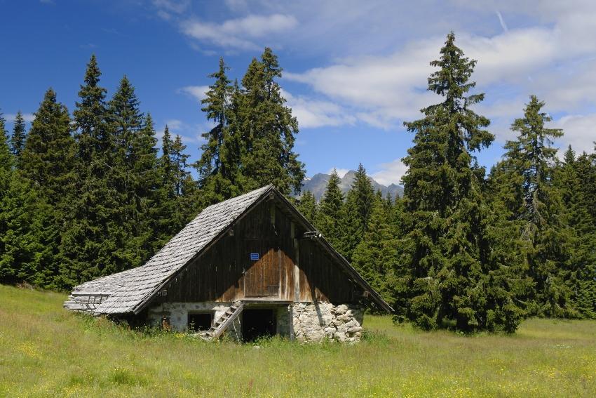 Hütte auf dem Vigiljoch in Südtirol - geeignet für eine Romantische Hüttenhochzeit