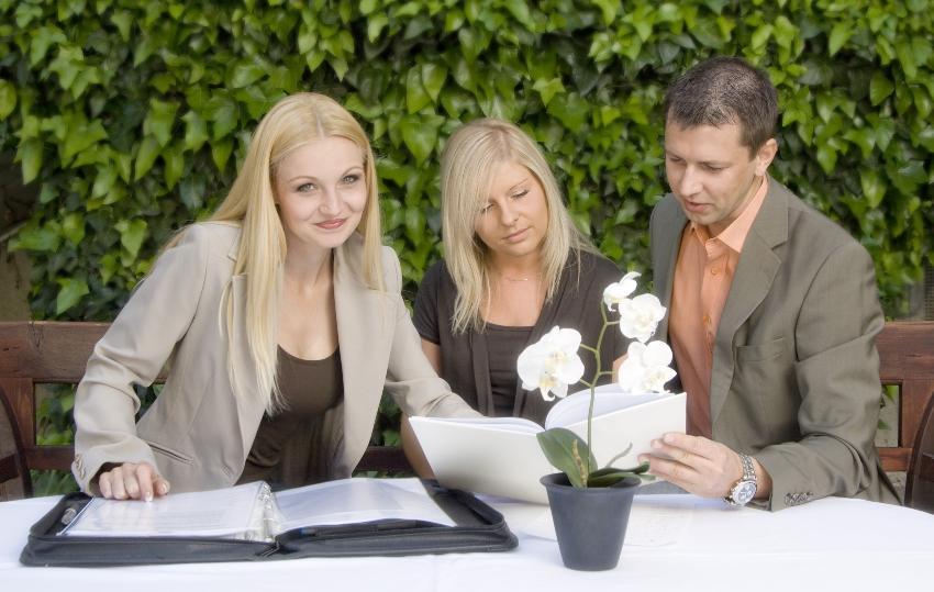 Weddingplaner mit Kunden