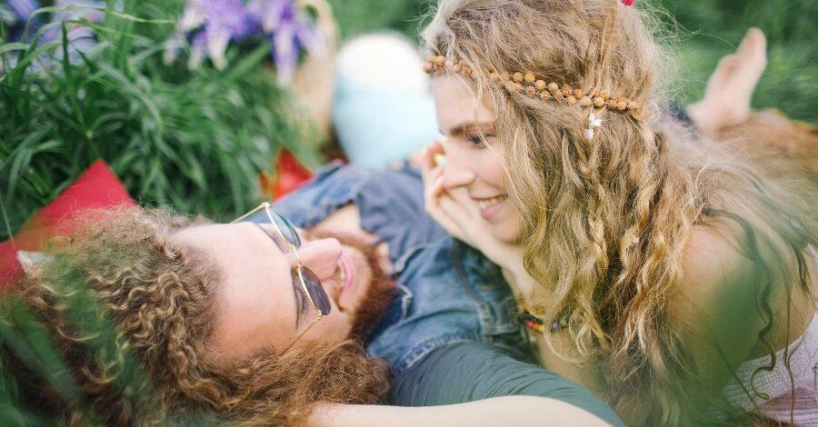 Hippie Paar - Hippie-Hochzeit
