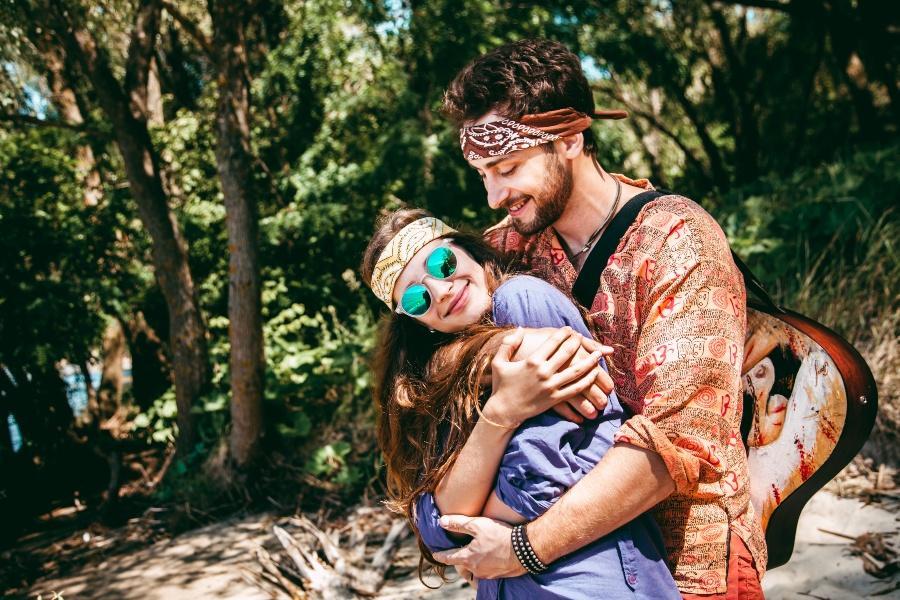 Hippie Paar