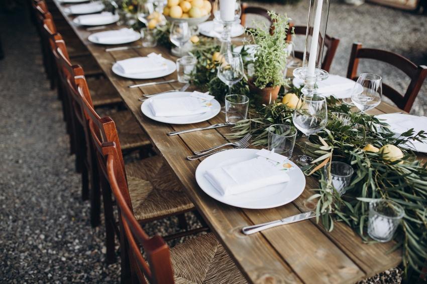 Tischdeko - Mediterrane Hochzeit