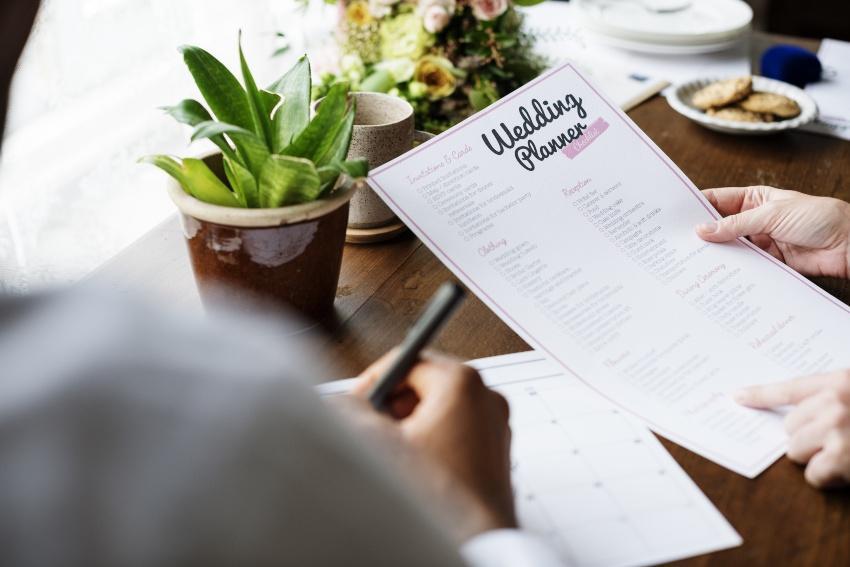 Blatt vom Wedding-Planner - Hochzeit vorbereiten - Hochzeit nachfeiern