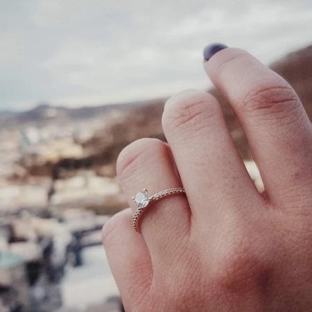 Le Missio | 0,56 ct. Brillant-Ring aus 585 Weißgold mit Diamant (0,40 ct. + 0,16 ct.)